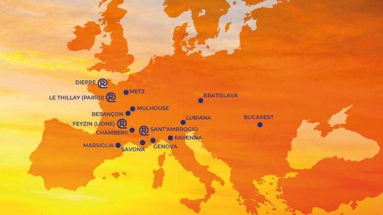 Mappa logistica per stoccaggio e consegna acciaio Revis